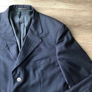 Corneliani | Navy Blue Wool Blazer Suit Jacket